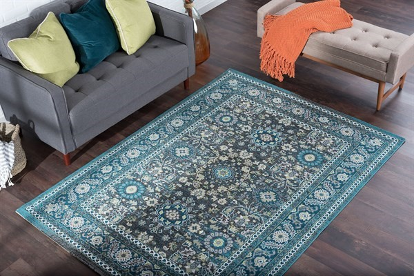 Aqua (MLN-4419) Traditional / Oriental Area Rug