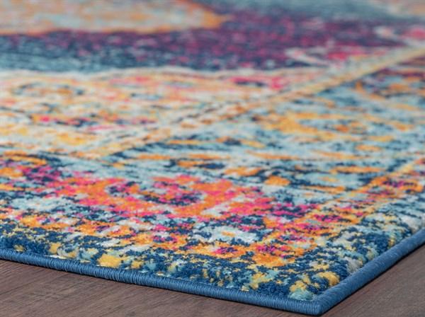 Blue, Pink, Orange (JSM4001) Bohemian Area Rug