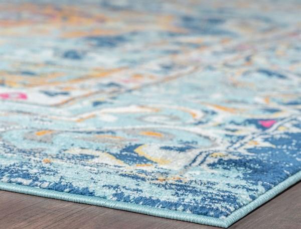 Blue, Orange, Pink (JSM4201) Bohemian Area Rug