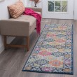 Product Image of Navy, Pink, Cream (JSM4607) Bohemian Area Rug