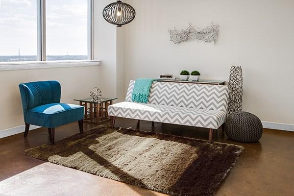 Brown Contemporary / Modern Area Rug