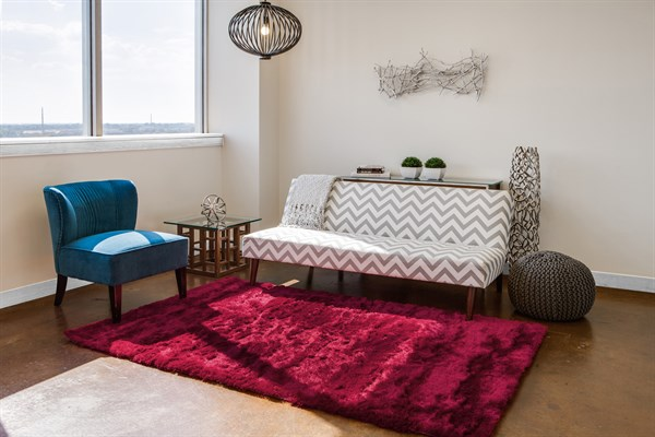 Cranberry Solid Area Rug