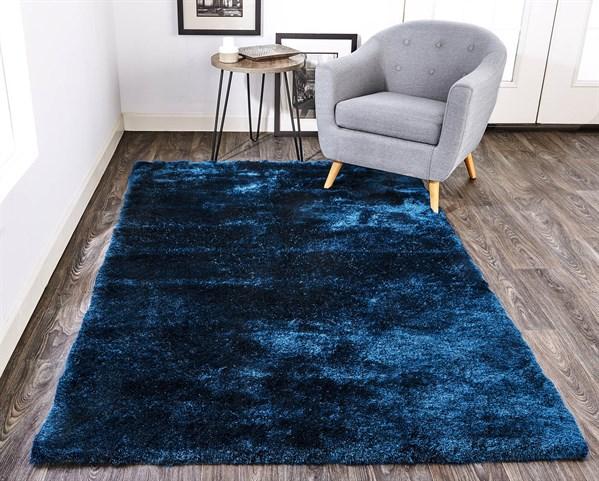Dark Blue Solid Area Rug