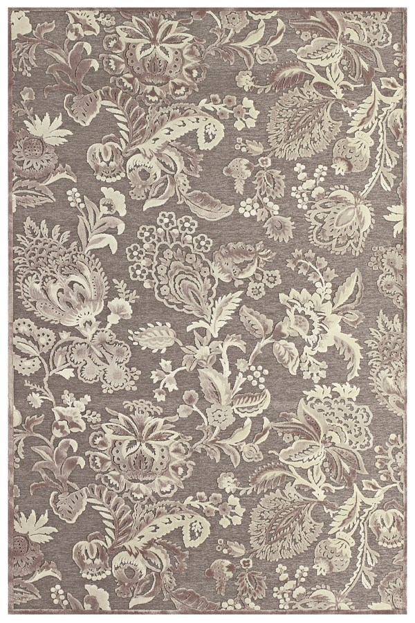 Pewter, Gray Floral / Botanical Area Rug