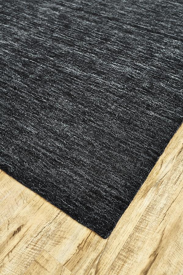 Black Casual Area Rug