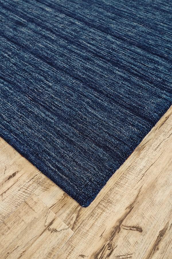 Dark Blue Casual Area Rug