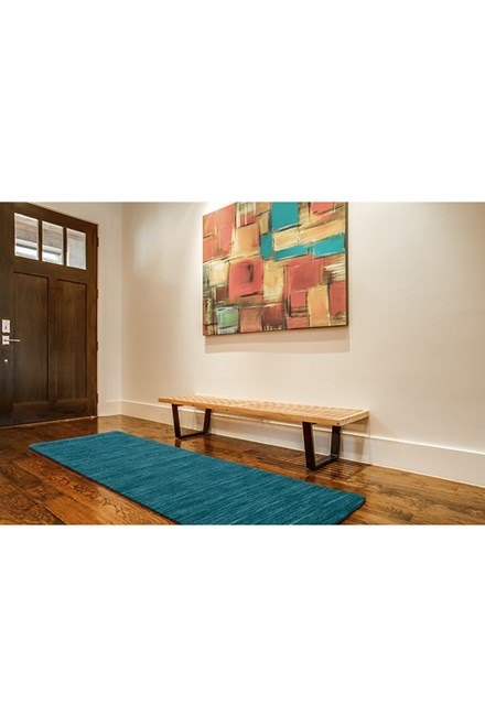 Teal Casual Area Rug