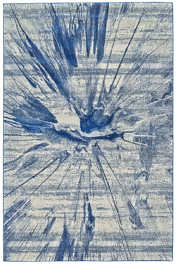 Cobalt Contemporary / Modern Area Rug