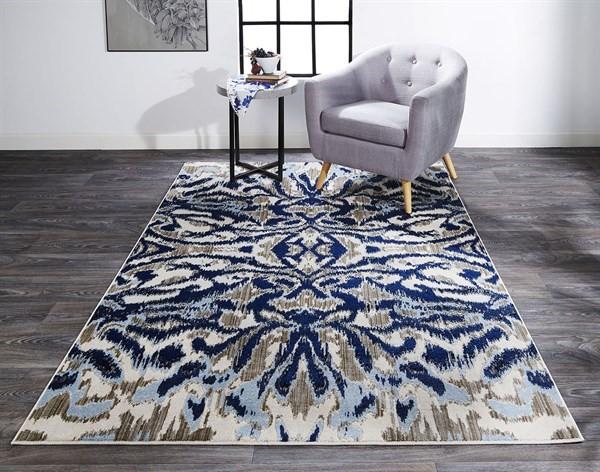 Blue, Haze Bohemian Area Rug