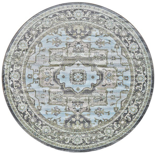 Taupe, Castle Traditional / Oriental Area Rug