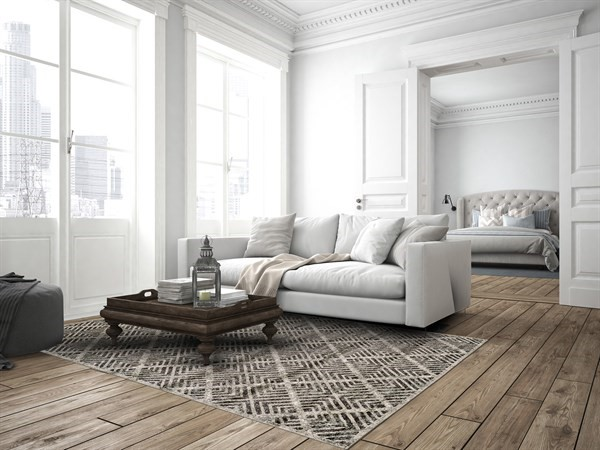 Castle, Taupe Transitional Area Rug