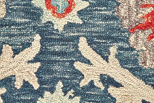 Blue, Ocean Bohemian Area Rug