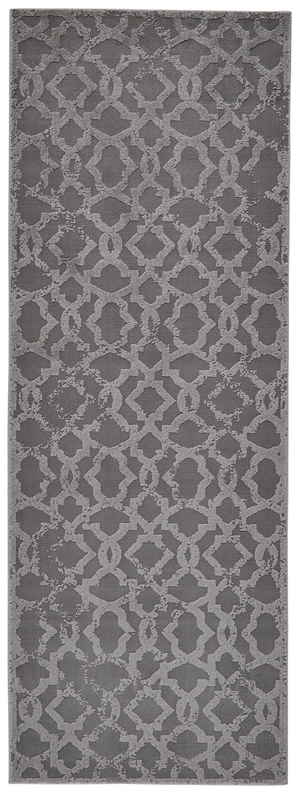 Silver Textured Solid Area Rug