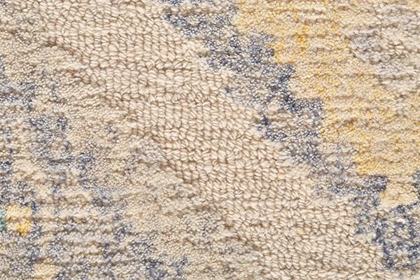 Grey, Yellow Moroccan Area Rug