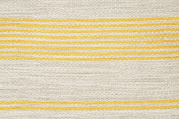 Gold Striped Area Rug