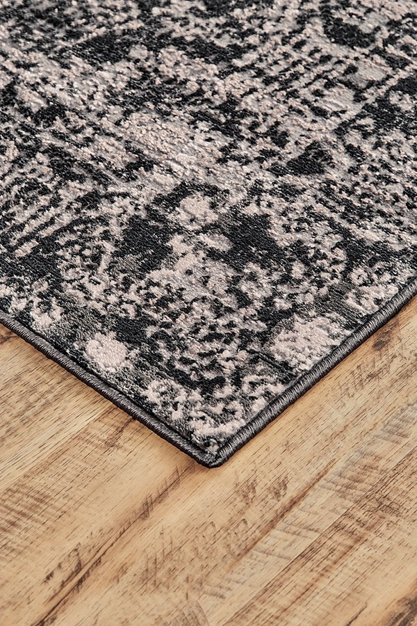 Charcoal, Grey Traditional / Oriental Area Rug