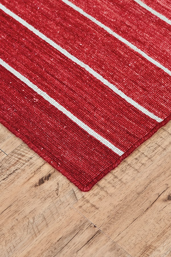 Red Striped Area Rug