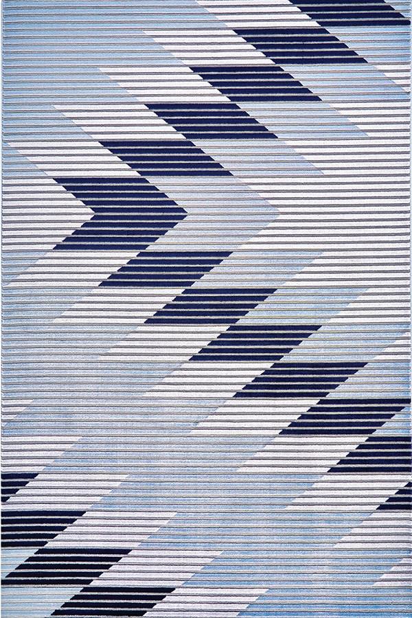 Gray, Light Blue Southwestern / Lodge Area Rug