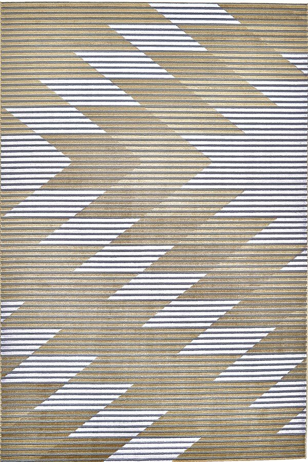 Gray, Gold Southwestern / Lodge Area Rug