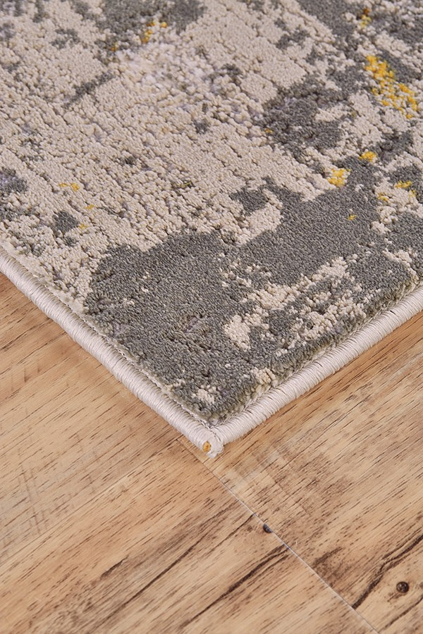 Gold, Birch Abstract Area Rug