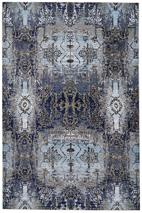 Light Blue, Sterling Traditional / Oriental Area Rug