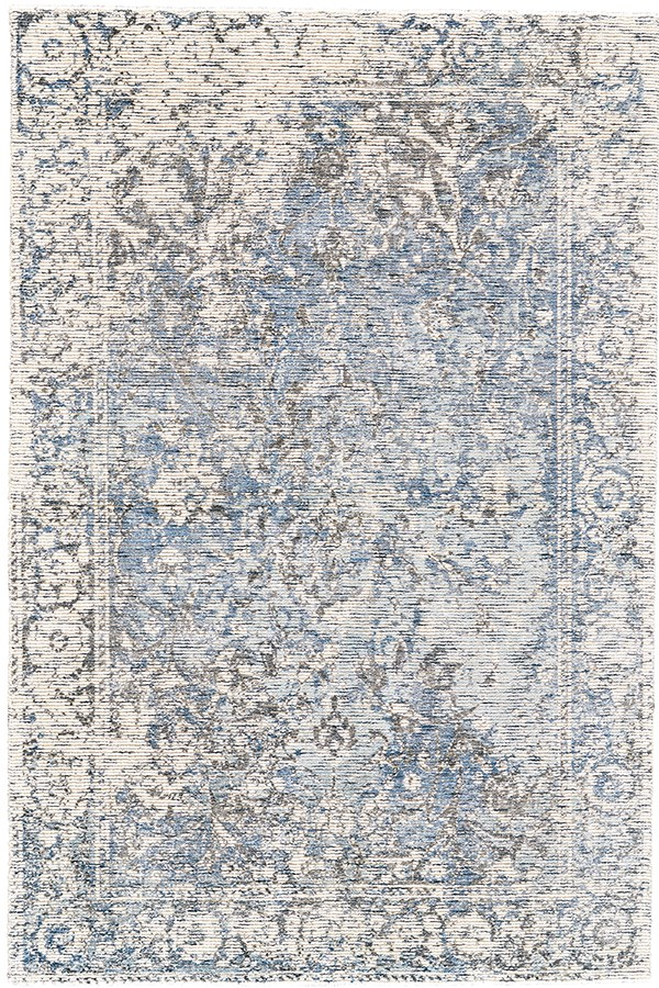 Grey, Blue Vintage / Overdyed Area Rug