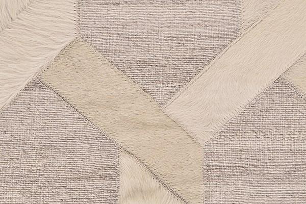 Ivory, Silver Geometric Area Rug