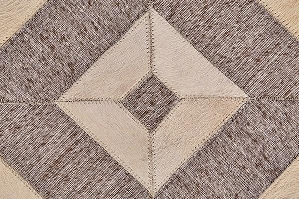 Ivory, Burlywood Geometric Area Rug