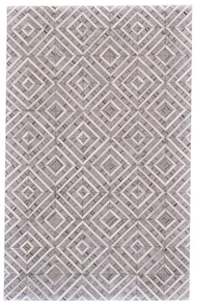 Ivory, Slate Geometric Area Rug