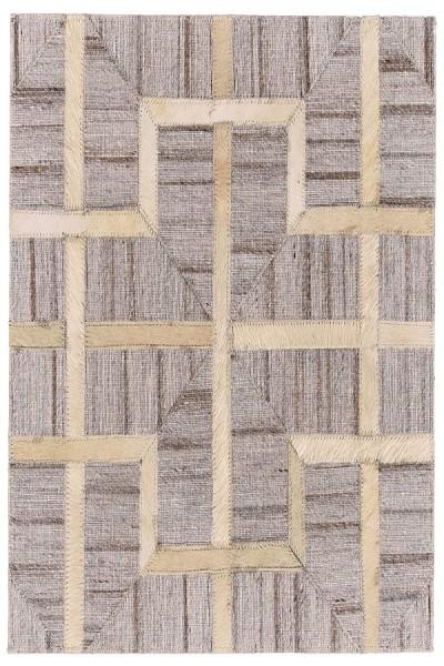 Ivory, Sand Geometric Area Rug