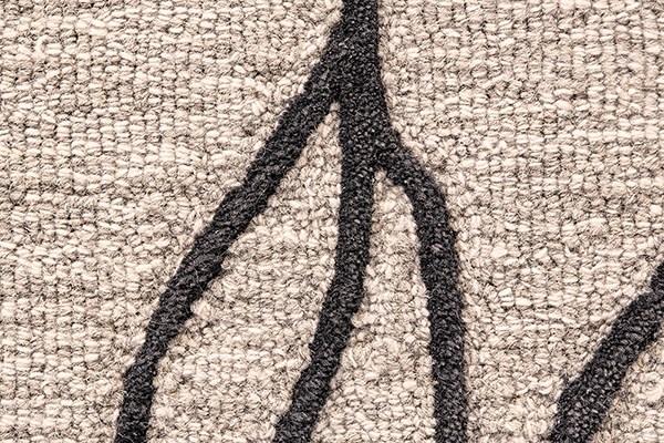 Taupe, Black Contemporary / Modern Area Rug