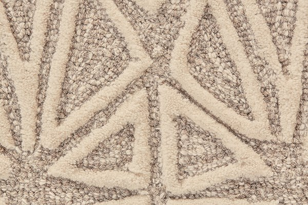 Taupe, Ivory Moroccan Area Rug