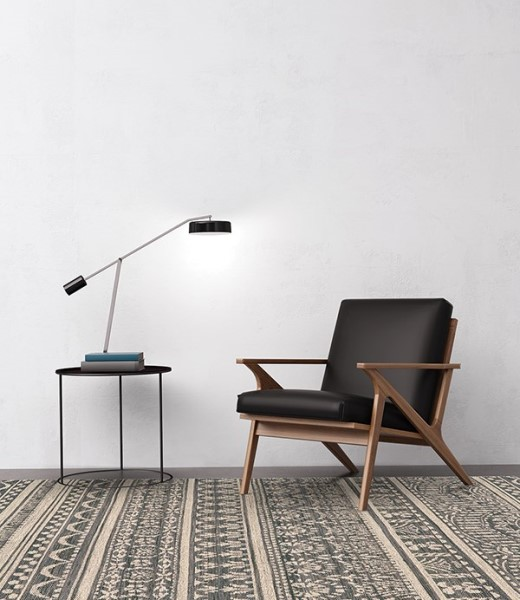 Charcoal, Beige Contemporary / Modern Area Rug