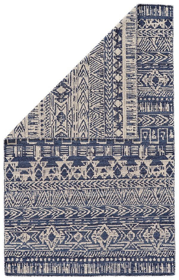 Cobalt, White Moroccan Area Rug