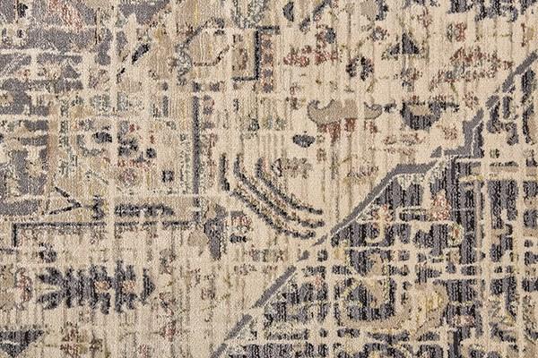 Charcoal, Beige Vintage / Overdyed Area Rug