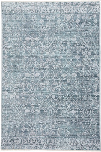 Blue, Turquoise Traditional / Oriental Area Rug
