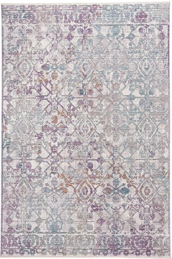 Light Grey, Silver Traditional / Oriental Area Rug