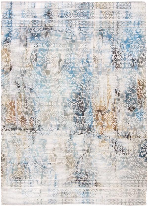 Light Blue Vintage / Overdyed Area Rug