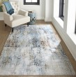 Product Image of Light Blue Vintage / Overdyed Area Rug