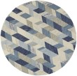 Product Image of Blue, Ivory Abstract Area Rug