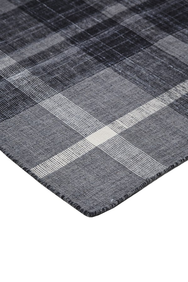 Grey Striped Area Rug
