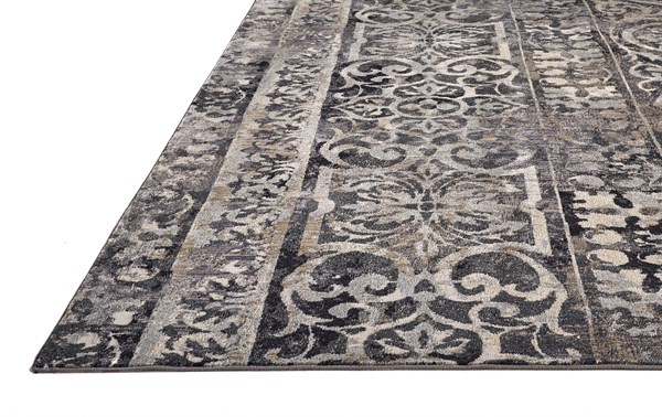 Charcoal, Ivory Vintage / Overdyed Area Rug