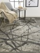 Product Image of Charcoal, Grey Abstract Area Rug