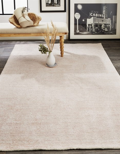 Light Pink Solid Area Rug