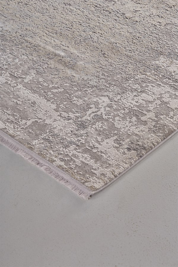 Light Grey Abstract Area Rug