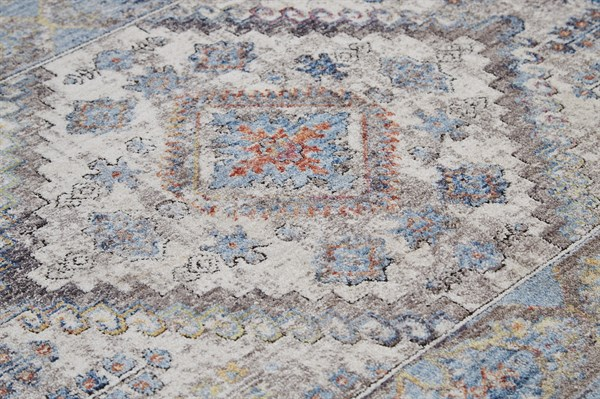Blue, Cream Vintage / Overdyed Area Rug