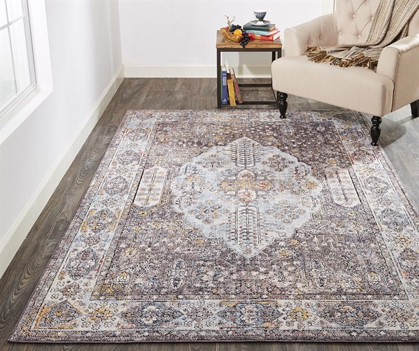 Grey Contemporary / Modern Area Rug