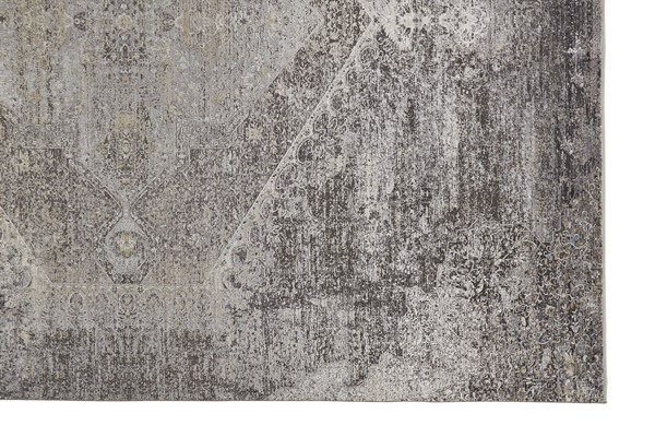 Smoke Traditional / Oriental Area Rug