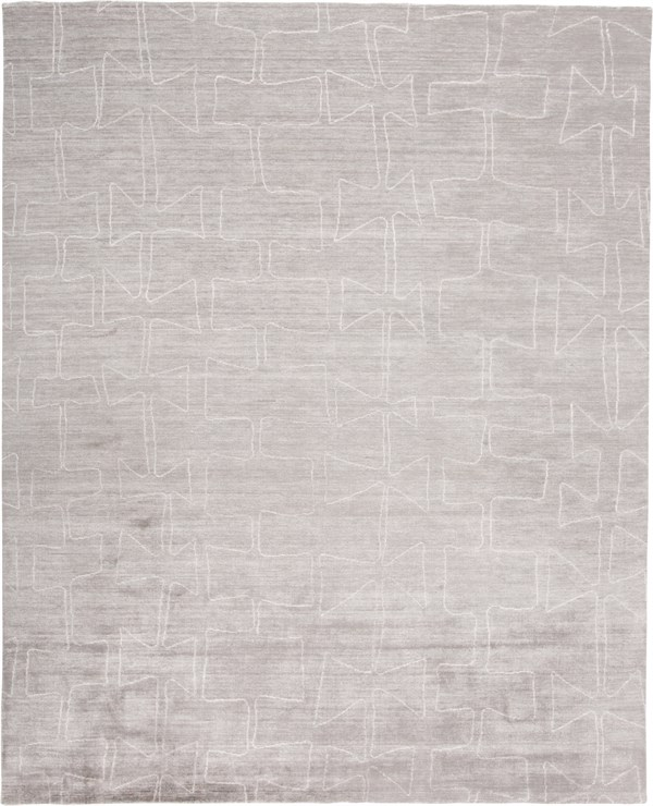 Taupe, Ivory Abstract Area Rug