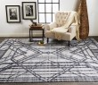 Product Image of Grey, Blue Geometric Area Rug